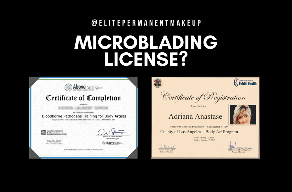 Microblading Licensing Everything You